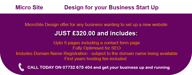 Microsite design offer for Businesses in Liverpool
